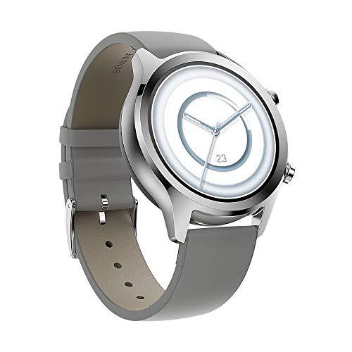 Ticwatch C2 Plus 1 GB di RAM Smartwatch Pagamenti NFC IP68 Impermeabile 1.3 Pollici AMOLED Display GPS Integrato Fitness Cardiofrequenzimetro Assistente Google Compatibile Android e iOS (Platino)