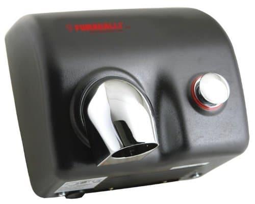 Fumagalli Magnum MG88 Elegance - Asciugamani con bottone automatico o sensore, colore: Nero