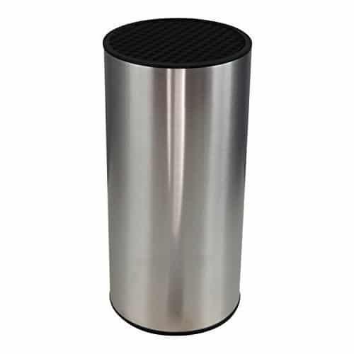 Ceppo Portacoltelli (senza coltelli) Cilindrico in Acciaio Inox Salvaspazio Coninx – Per Conservare i Coltelli Puliti e in Sicurezza - Blocco Coltelli Acciaio