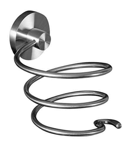 Ambrosya® | Porta-phon Esclusivo in Acciaio Inossidabile | Bagno Asciugacapelli Titolare WC (Acciaio Inossidabile (Spazzolato))