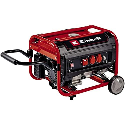 Einhell TC-PG 35/E5 Generatore di corrente a benzina ((benzina, motore 4 tempi, max 3100 W, motore a 4 tempi a basse emissioni, 2 prese da 230 V, funzione AVR)