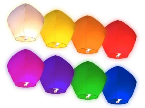 AREA Sky Lanterne Cinesi Volanti Colorate, Misti