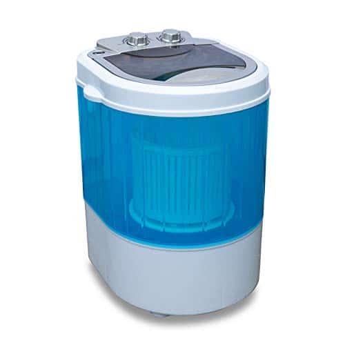 Molino Mini lavatrice con centrifuga per campeggio fino a 3 kg, piccola e maneggevole con maniglia