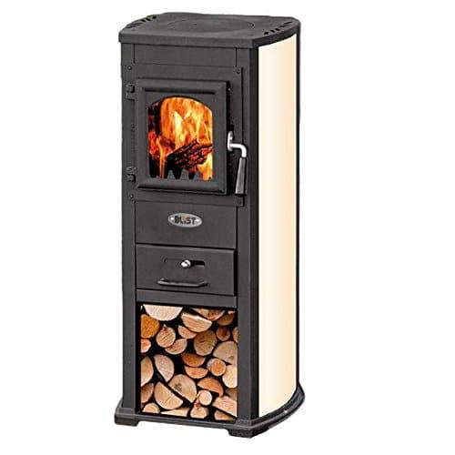 Stufa a legna 7kW beige acciaio riscaldamento ambienti calore casa EKONOMIK LUX
