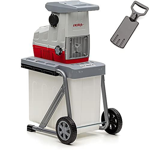 IKRA 81002880 biotrituratore elettrica ILH 3000 A, silenziosa e Robusta, Spessore dei Rami Fino a 44mm, 3000 W, 230 V