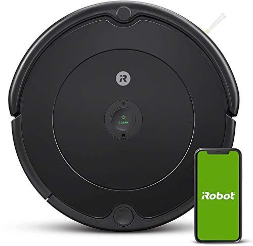 iRobot Roomba 692 Robot Aspirapolvere con Connessione Wi-Fi, Adatto a Pavimenti e Tappeti, Sistema di Pulizia ad Alte Prestazioni con Dirt Detect, Smart Home e Controllo con App, Grigio Scuro