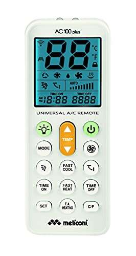 Meliconi AC 100 Plus Telecomando Universale per Condizionatori, Bianco, 1 pezzo