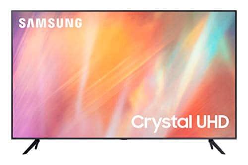 "Samsung TV UE55AU7190UXZT, Smart TV 55"" Serie AU7100, Modello AU7190, Crystal UHD 4K, Compatibile con Alexa, Grey, 2021, DVB-T2 [Escl. Amazon][Efficienza energetica classe G]"