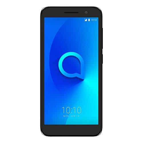 "Alcatel 1 2019 Smartphone 4G Dual Sim, Display 5"" FWVGA, 8GB, 1GB RAM, Android, Batteria 2000mAh, Nero [Italia]"