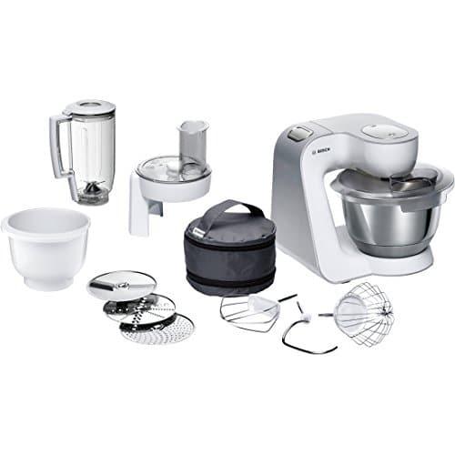 Bosch Elettrodomestici MUM58234 Macchina da Cucina, 1000 W, 3.9 Litri, Acciaio Inox e Plastic, 7 velocità, Bianco