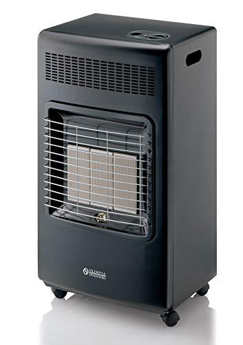 Olimpia Splendid 99384 Stovy Infra Turbo Thermo, Stufa a Gas / Infrarossi 4200 W con ventilatore, Prodotto in Italia, Nero