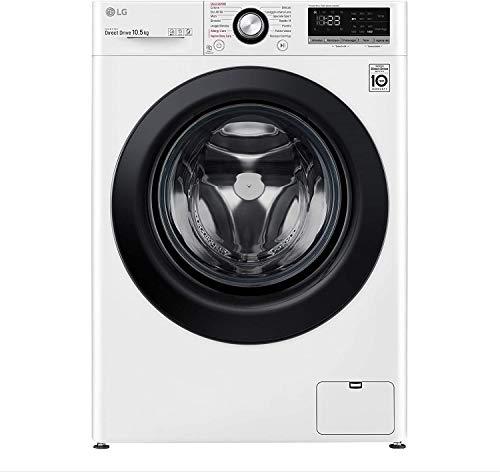 LG F4WV310S6E Lavatrice a Carica Frontale 10.5 Kg, Libera Installazione, 1400 Giri/min, Intelligenza Artificiale, Funzione Vapore, 60 x 56 x 85 cm - Bianco