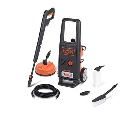 BLACK+DECKER BXPW1600PE Idropulitrice ad Alta Pressione con Patio Cleaner e Spazzola Fissa, 1600 W, 125 Bar, 420 l/h