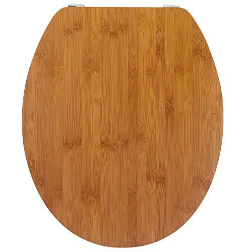 Wirquin 20719732 - Sedile copri WC Casual Line Bamboo Nature, 46 x 38.6 x 6 cm