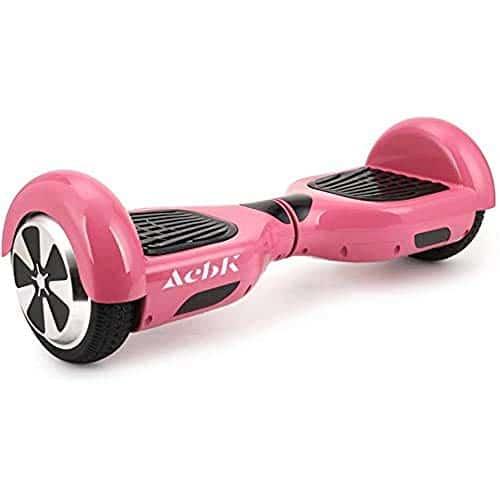 ACBK - D01 Scooter Elettrico Hoverboard Autobilanciato con Ruote da 6.5'' (Bluetooth + Luci a LED) Velocità massima: 10-12 km/h - Autonomia 10-20 km (Rosa)