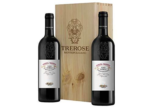 Nobile di Montepulciano DOCG Cassetta da 2 bottiglie: Nobile di Montepulciano Trerose Trerose 2018 0,75 L, Cassetta di legno