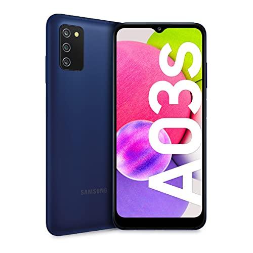 Samsung Galaxy A03s Smartphone Android, Display Infinity-V HD+ da 6,5 Pollici, 3 GB di RAM e 32 GB di Memoria Interna Espandibile, Batteria da 5.000 mAh, Blue [Versione Italiana]