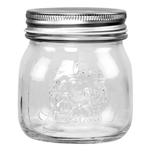 Saveur et Degustation ks9206 - Barattolo marmellata in vetro trasparente, 250 ml, 6 pezzi