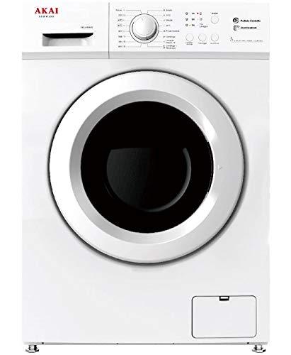 Akai AQUA6044S lavatrice Libera installazione Caricamento frontale Bianco 6 kg 1000 Giri/min A++