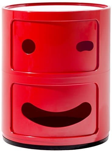 Kartell Componibile Smile Contenitore Occhiolino, ABS, Rosso, 32 x 32 x 40 cm