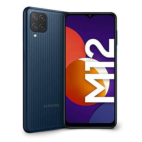 Samsung Galaxy M12 Smartphone Android 11 Display da 6,5 Pollici 6 GB di RAM e 128 GB di Memoria Interna Espandibile Batteria da 5.000 mAh Black [Versione Italiana]