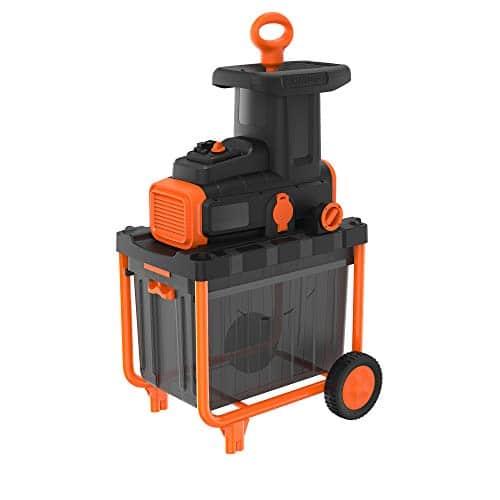 BLACK+DECKER Biotrituratore con Motore a Induzione - Capacità di taglio 4,5 cm, Capacità di raccolta 45 Litri 2800 W, BEGAS5800-QS