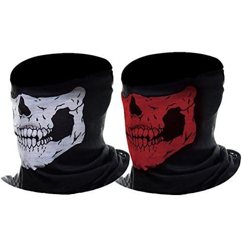 eBoot Half Skull Maschera di Protezione del Motociclo Maschera per Il Viso, 2 Pezzi