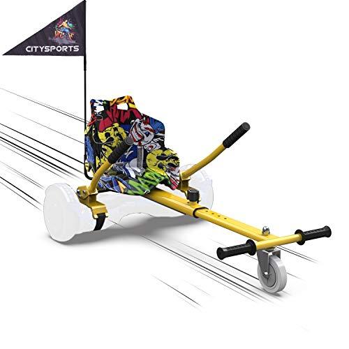 MARKBOARD Kart per Hoverboard Go Kart per Hoverboard di 6.5 8 10 Pollici (Hip)