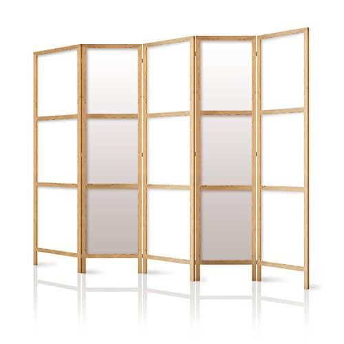 murando Paravento 225x171 cm 5 parti tessuto non tessuto di qualita tedesca divisorio legno design fatto a mano deko Home offcie Giappone p-A-0009-z-c