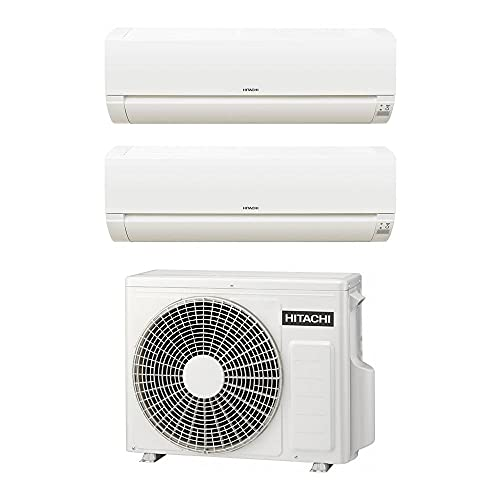 Climatizzatore Hitachi Dodai Frostwash Dual Split da 9000+12000 Btu inverter in gas R32 RAM-40NE2F A++