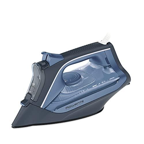 Rowenta DW4320 Ferro da Stiro, Getto Vapore 160 g/min, Piastra AntiGraffio con 300 Microfori, Funzione Anticalcare, 2500 W, Acciaio Inox, Blu