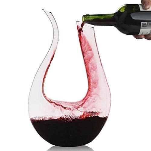 Decanter,Smaier 1200ml Decantatore di vino Aeratore Caraffa Accessori vino set da Regalo