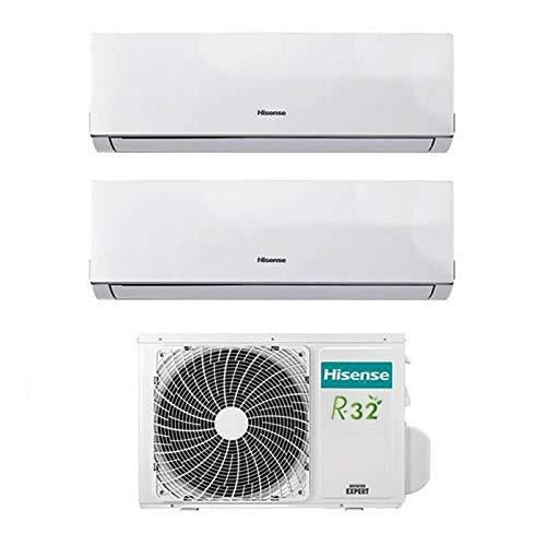 Condizionatore Climatizzatore Inverter Hisense New Comfort Dual Split 9000+12000 9+12 Btu 2AMW42U4RRA R-32 A++