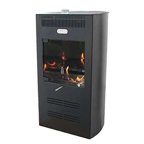 Stufa bioetanolo 3000W ventilata 3 velocità nera riscaldamento RUBY ELEGANCE