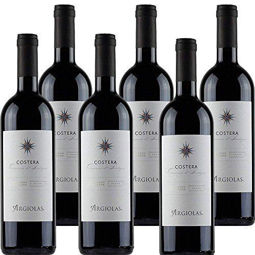 Cannonau di Sardegna Doc   Argiolas Costera   Confezione da 6 Bottiglie da 75 Cl   Vino Rosso Italiano   Idea Regalo