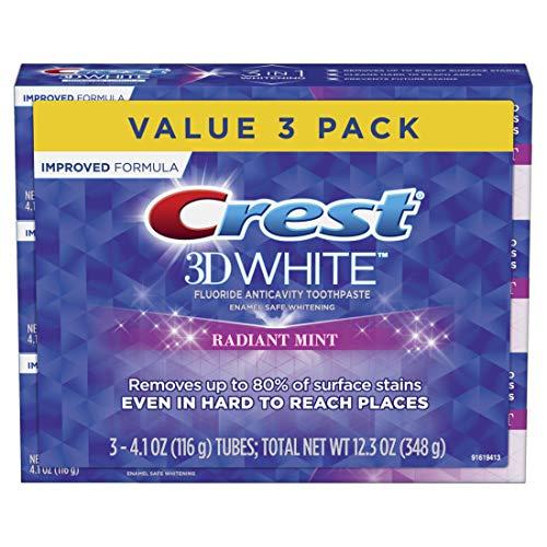 Crest 3D White Radiant Mint dentifricio sbiancante, 99,2gram confezione doppia