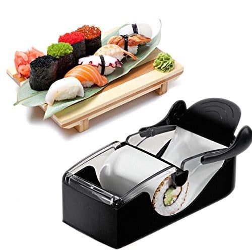 Xrten Roll Sushi Machine Maker,DIY Roll Sushi Adatto a Principianti o Professionisti(Nero)