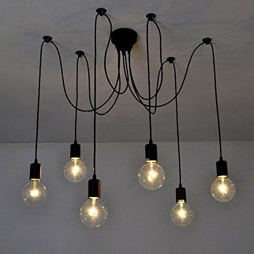 Lixa-da - base lampadine lampadario pendente (6 braccia)