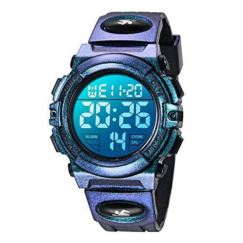 Orologi per bambini, ragazzi, ragazzi e adolescenti digitale, orologio sportivo multifunzione, impermeabile, digitale, con luce LED, sveglia e data calendario, per bambini e bambini