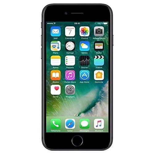 Apple iPhone 7, Smartphone 128 GB, Nero (Jet Black) (Ricondizionato)