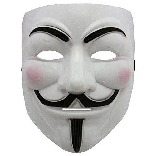 Boolavard 2021 Nuovo V per Vendetta Maschera con Eyeliner narice Anonymous Guy Fawkes Fancy Adult Costume Accessori Halloween Maschera Ltd