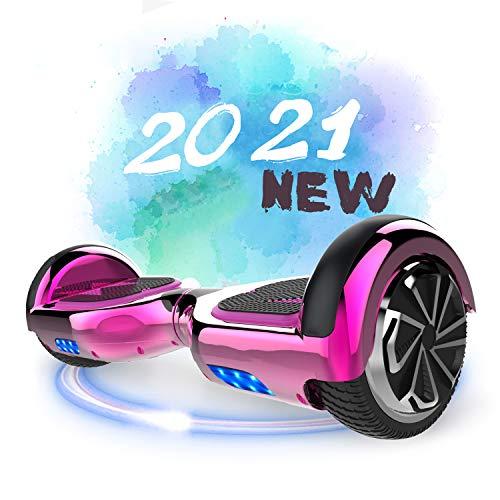 SOUTHERN-WOLF Hoverboard, Self Balance Scooter 6.5 Pollici Monopattino Elettrico Smart Auto bilanciato Bluetooth Scooter Elettrico con Due Ruote Board Hover (Rose Red)