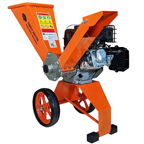 Forest Master 6hp - Cippatrice compatta a benzina con azionamento diretto 208 cc, 4 tempi, per produrre pezzi fino a 50 mm di diametro, portatile, leggera e ben bilanciata, facile da riporre