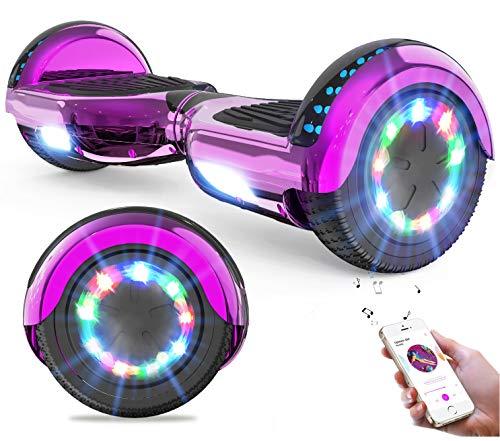 GeekMe Hoverboards Auto bilanciamento Scooter 6.5 '' Regalo per Bambini e Adulti - Bluetooth Altoparlanti LED luci