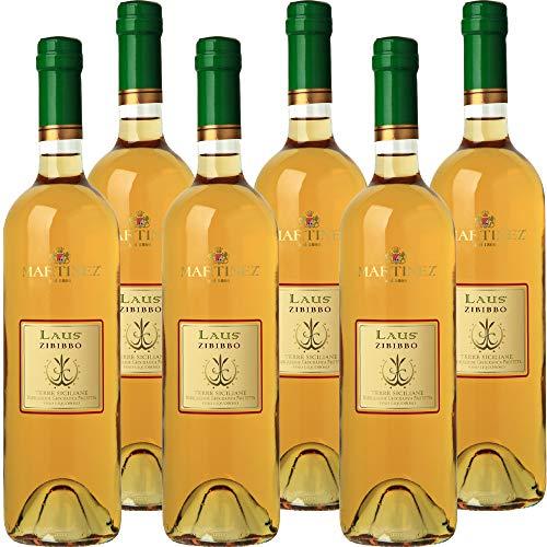 Laus Zibibbo Terre Siciliane IGP   Vino Liquoroso   I Vini della Sicilia   Confezione 6 Bottiglie da 75 Cl   Idea Regalo