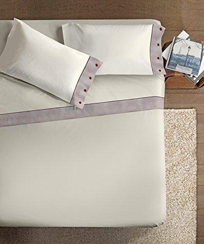 Ipersan lenzuola con bordo in lino spigato